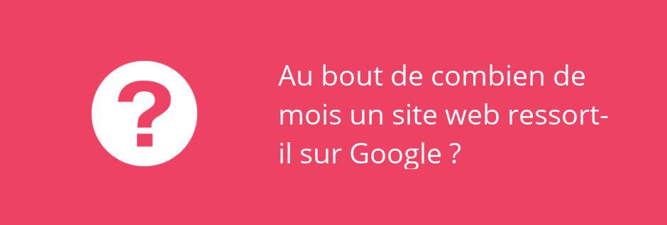 combien de temps pour être visible sur Google