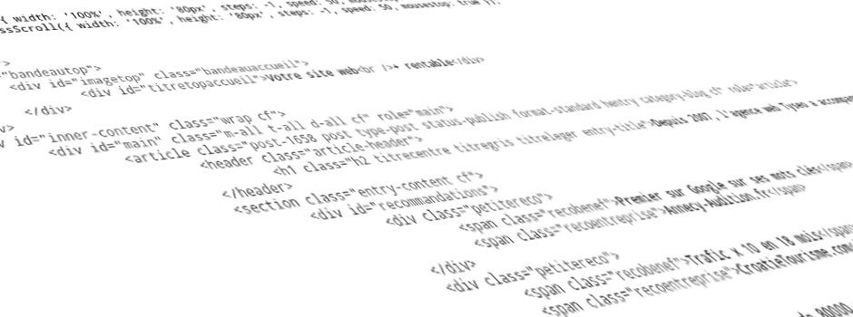 instructions en langage informatique HTML et JS