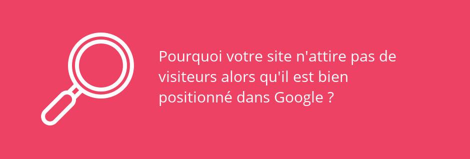 premier sur google, pas de trafic
