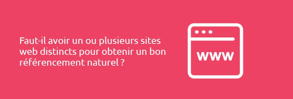 SEO : faut-il préférer un ou plusieurs sites web